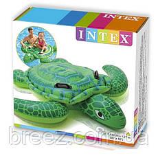 Детский надувной плотик для плавания Intex 57524 Черепаха 119 см , фото 3
