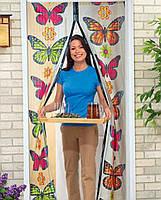 Антимоскитная сетка на магнитах Insta Screen (Magic Mesh) с бабочками