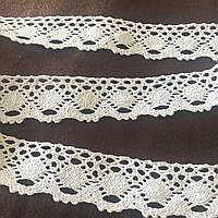 Бавовняне мереживо біле 4 см