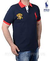 Футболка мужская Rаlph Lauren-108 темно-синяя