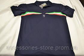 Мужская футболка поло Official Ferrari Men's Polo Tricolor Print