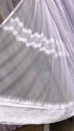 Тюль жаккард белая шум JORD, фото 2