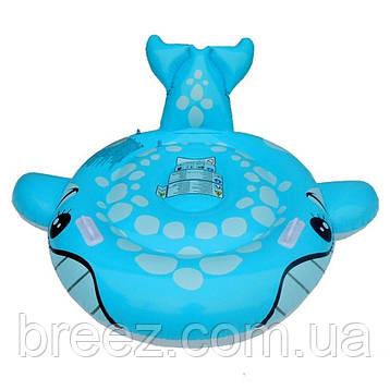 Детский надувной плотик для плавания Intex 57527 Синий Кит 160 см , фото 2