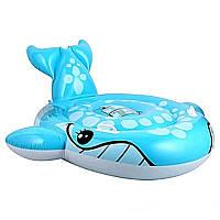 Детский надувной плотик для плавания Intex 57527 Синий Кит 160 см , фото 1