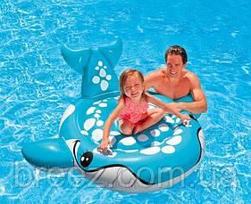 Детский надувной плотик для плавания Intex 57527 Синий Кит 160 см , фото 3