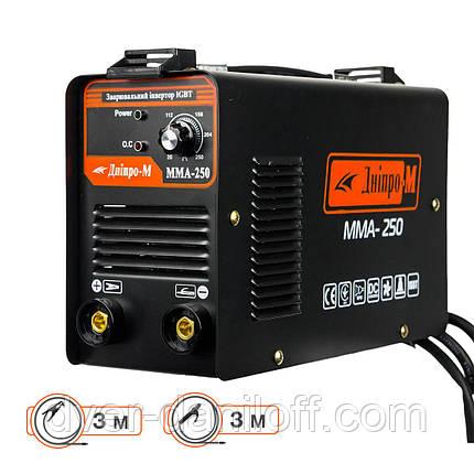 Зварювальний інвертор Дніпро-М ММА-250 (кабель 3м), фото 2