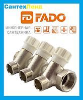 Коллектор вентильный  FADO  3/4 x1/2  2-выхода
