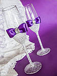 Как украсить свадебные бокалы?
