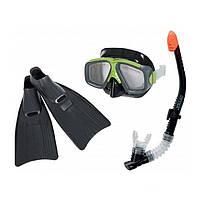 Набор для плавания Intex 55959 черный, ласты, маска и трубка
