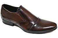 """Туфли мужские """"Faro"""". Коричневые. Натуральная кожа (Туфлі чоловічі Фаро Коричневі Натуральна шкіра)"""