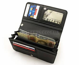 Кожаная барсетка-кошелек ST, черная