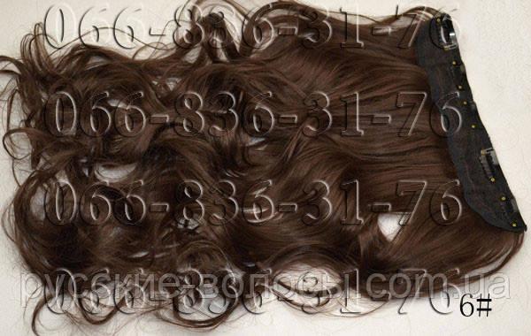 Волосы на заколках волнистые. Искусственные термо.