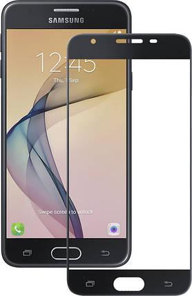 Защитное стекло на Samsung J7 Prime Full Cover чёрное , фото 2