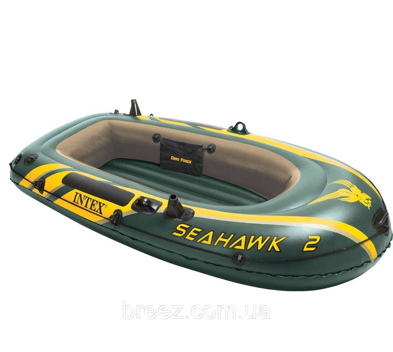 Двухместная надувная лодка Intex 68347 Seahawk 2 Set, 236 х 114 х 41 см