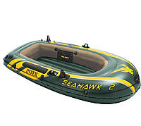 Двухместная надувная лодка Intex 68347 Seahawk 2 Set, 236 х 114 х 41 см, фото 1