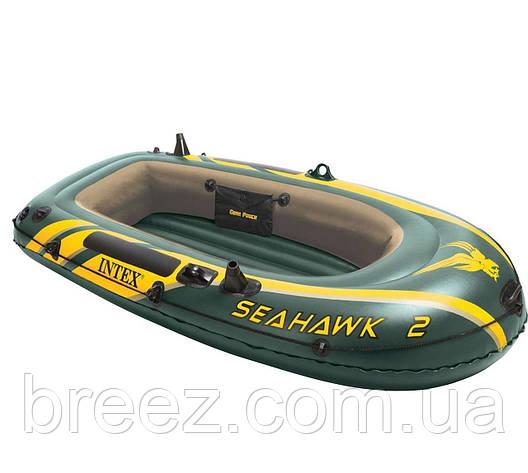 Двухместная надувная лодка Intex 68347 Seahawk 2 Set, 236 х 114 х 41 см, фото 2