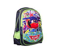 Школьный рюкзак для мальчиков PLANES зеленый