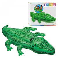 Плотик 58562 крокодил,203-114см,ручки 2шт, рем компл, в кор-ке, 25,5-23-8см