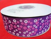 """Лента репс 2,5 """"Цветок"""" (23м) Фиолет"""