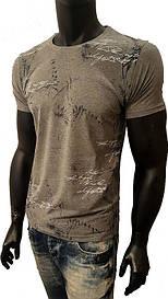"""Мужская футболка, """"Принт"""",турецкие трикотажные футболки-95% Cotton, 5% Lycra"""