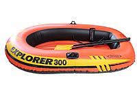 Двухместная надувная лодка Intex 58332 Explorer 300 Set, 211 х 117 х 41 см, фото 1