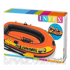 Двухместная надувная лодка Intex 58332 Explorer 300 Set, 211 х 117 х 41 см, фото 2