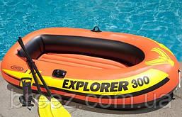 Двухместная надувная лодка Intex 58332 Explorer 300 Set, 211 х 117 х 41 см, фото 3