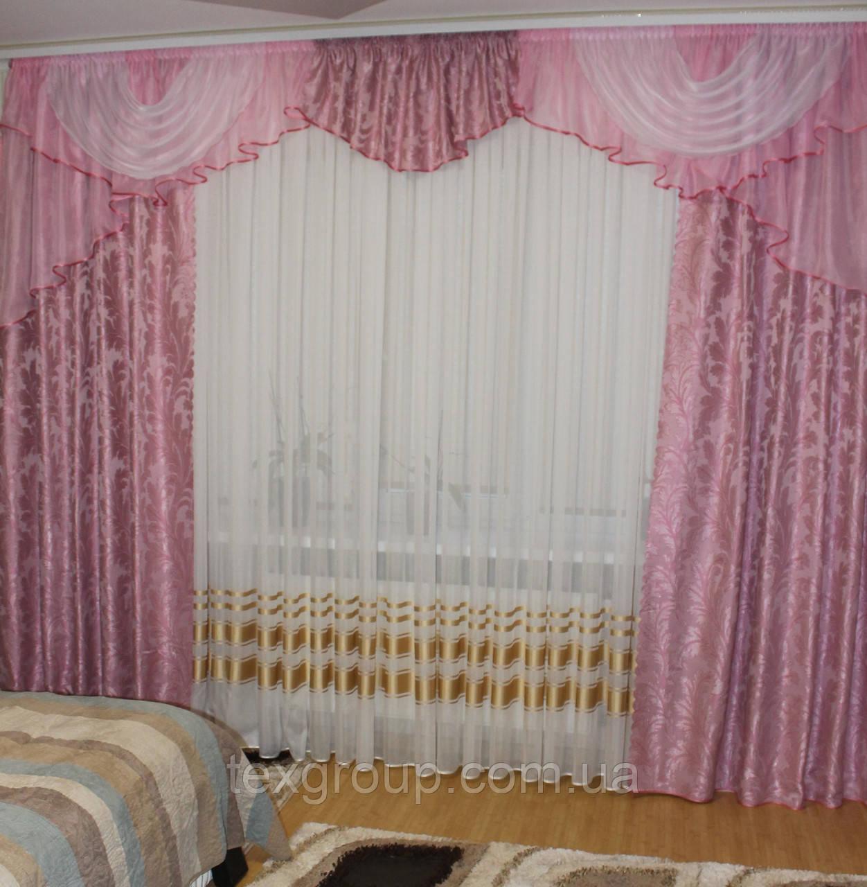 Готовые шторы с ламбрекеном №300