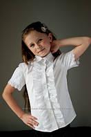 Блуза на девочку скоротким рукавом, детские блузки 2020