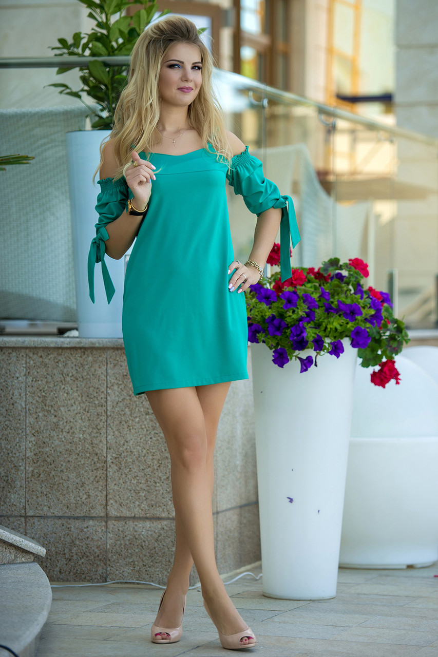 Летнее Платье Ивона зеленое