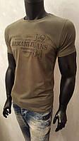 Мужская футболка, Armani Jeans,турецкие трикотажные футболки-95% Cotton, 5% Lycra