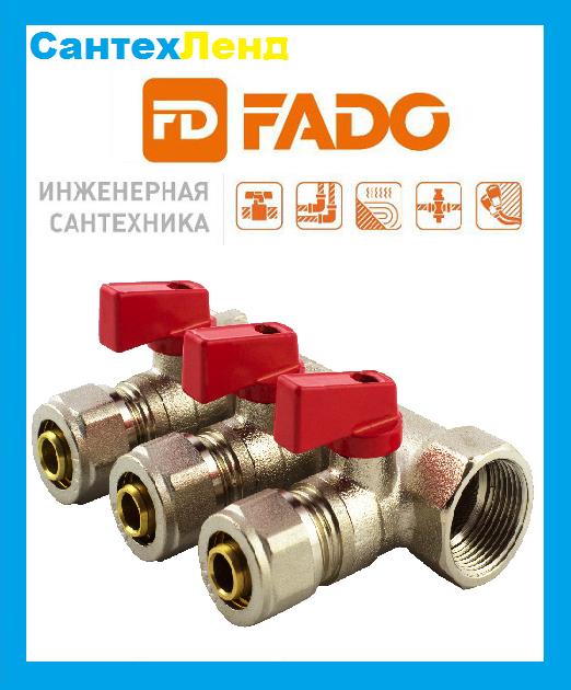Колектор FADO з кульовими кранами і з фітингом 1 x16 3-виходу