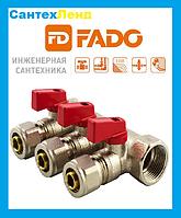 Коллектор FADO  с шаровыми кранами и с фитингом   3/4 x16  2-выхода