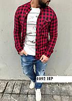 Рубашка мужская в клеточку 1092 НР
