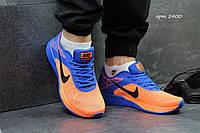 Мужские кроссовки Nike Lunar Launch голубые с оранжевым