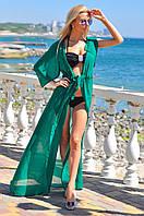 Женская пляжная туника-халат в пол на завязках. Цвета!