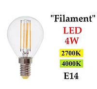 """Светодиодная лампа """"Filament"""" Feron LB-61 4W E14"""