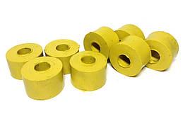 Втулка стойки стабилизатора Волга (компл.8шт) полиуретан желт.(пр-во Украина)