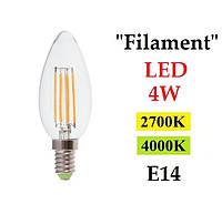 """Светодиодная лампа """"Filament"""" Feron LB-58 4W E14"""