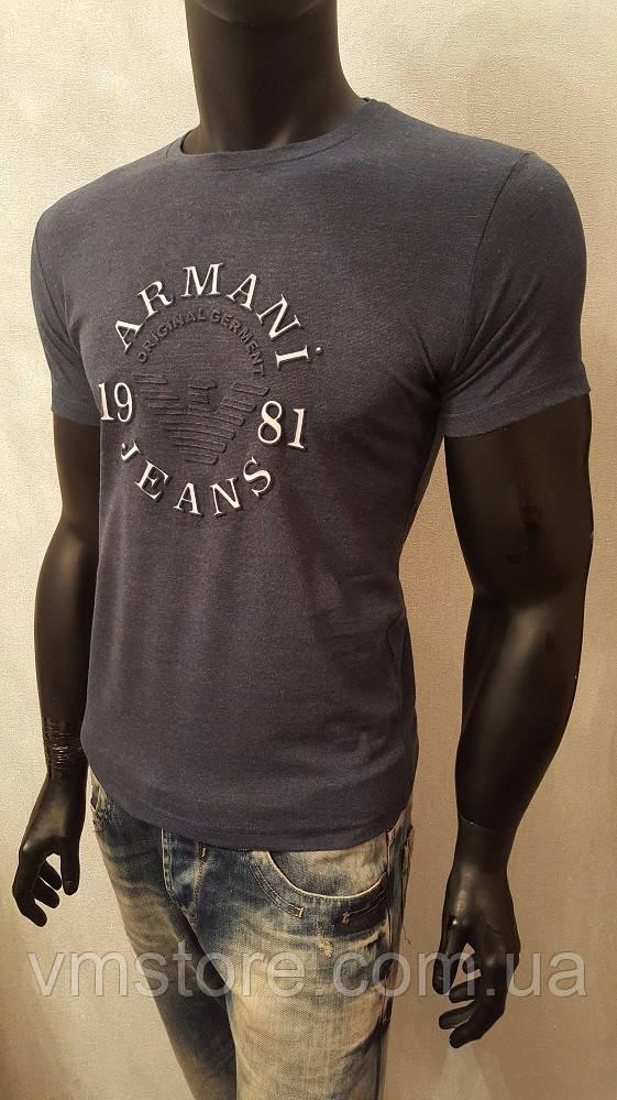 Мужская футболка, Armani Jeans 1981,турецкие трикотажные футболки-95% Cotton, 5% Lycra - VM STORE  в Харькове