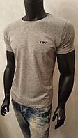 Мужская футболка, Armani Jeans,меланж,турецкие трикотажные футболки-95% Cotton, 5% Lycra