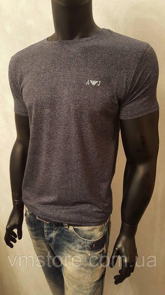Мужская футболка, Armani Jeans,меланж,турецкие трикотажные футболки-95% Cotton, 5% Lycra - VM STORE  в Харькове