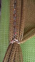 Тюль сеточка из нейлона коричневая