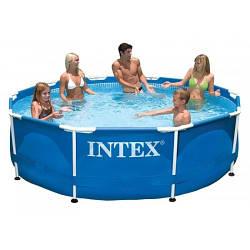 Круглый каркасный бассейн Intex Metal Frame Pool + фильтр-насос  1250 л/час, 305х76 см (28202)