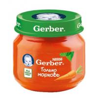 Гербер пюре Морква 80г НОВИНКА!!!