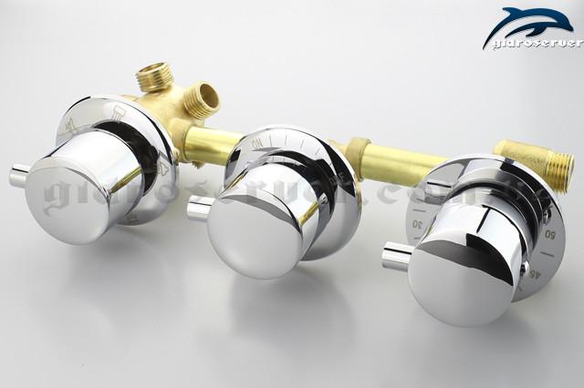 Термостатический смеситель для душевой кабины, гидробокса, гидромассажной ванны  GT - 06 скрытого монтажа в душевой стойке и на борту ванны.