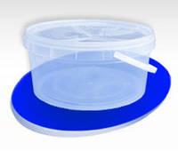Ведро пластиковое пищевое 3л прозрачное низкое