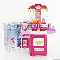 Детская кухня для девочки игрушечная Cook fun розовая