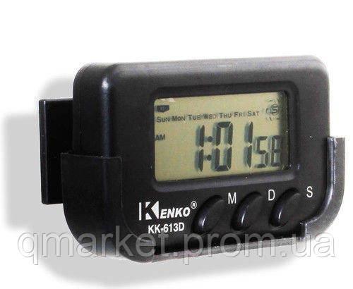 Часы автомобильные Kenko KK 613 D + секундомер, электронные универсальные часы - Интернет-магазин «Qmarket» в Одессе