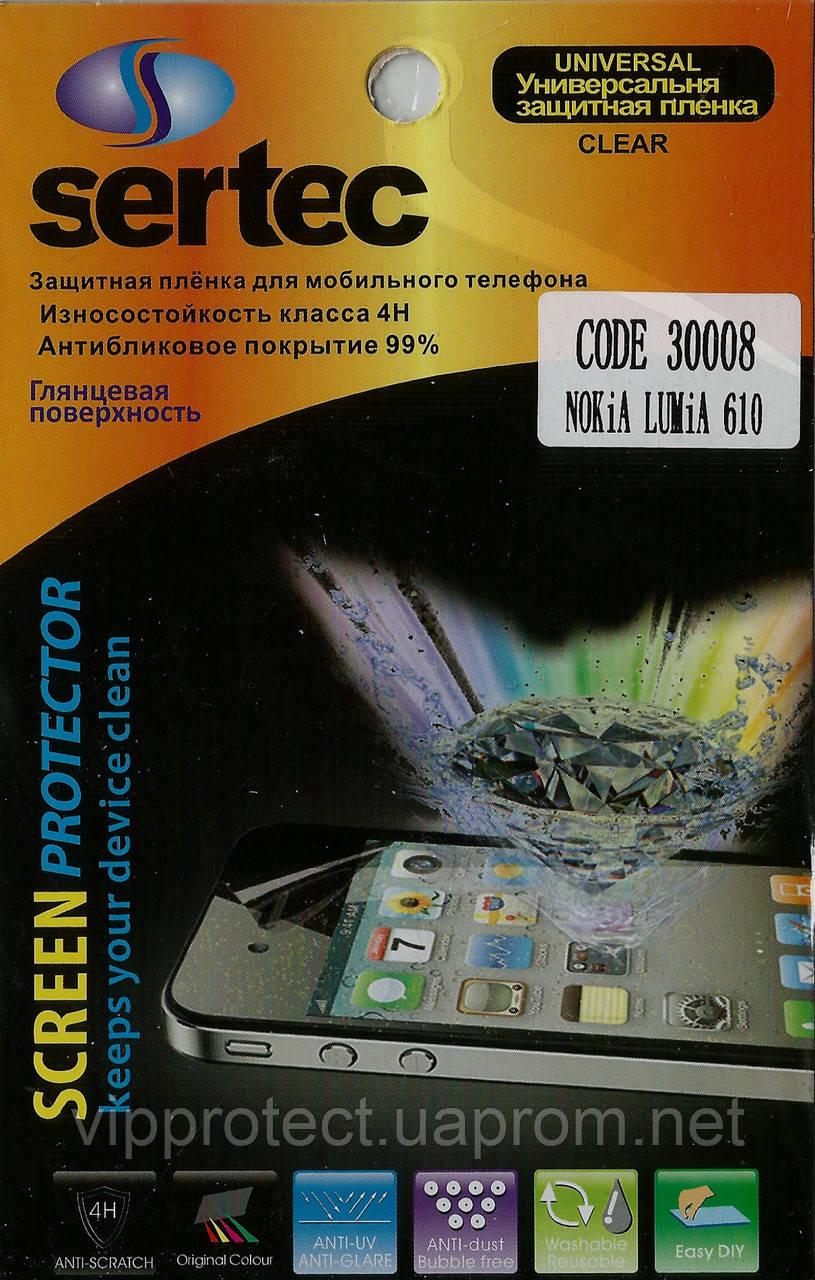Nokia 610, глянцевая пленка Lumia